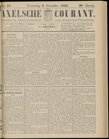 Axelsche Courant 1910-11-09