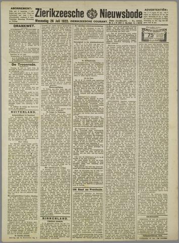 Zierikzeesche Nieuwsbode 1922-07-26