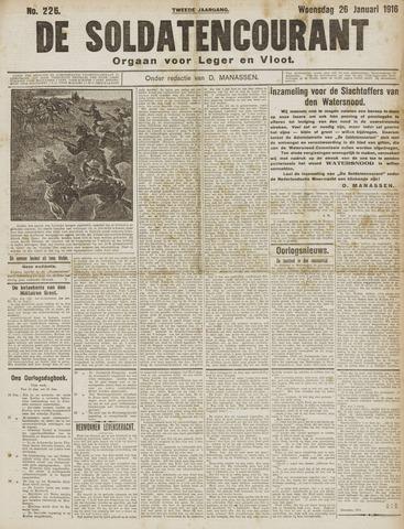 De Soldatencourant. Orgaan voor Leger en Vloot 1916-01-26