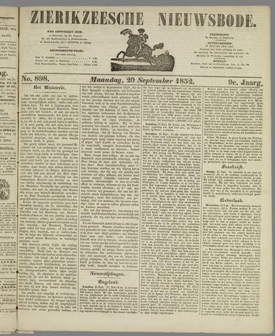 Zierikzeesche Nieuwsbode 1852-09-20