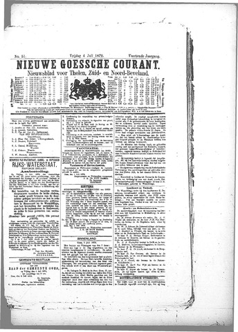 Nieuwe Goessche Courant 1879-07-04