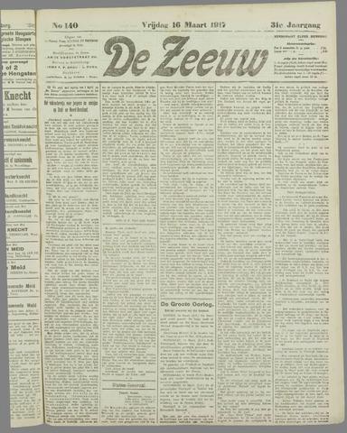 De Zeeuw. Christelijk-historisch nieuwsblad voor Zeeland 1917-03-16