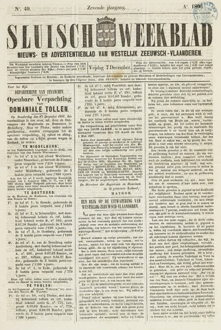 Sluisch Weekblad. Nieuws- en advertentieblad voor Westelijk Zeeuwsch-Vlaanderen 1866-12-07