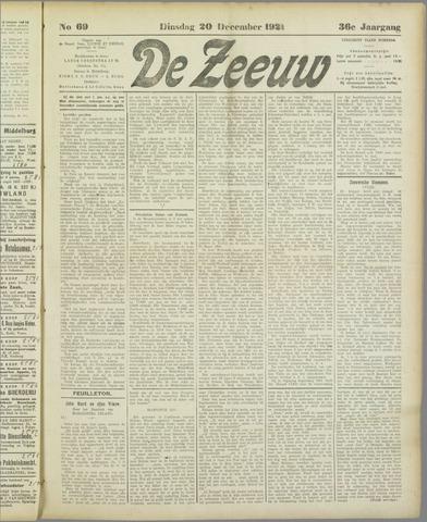 De Zeeuw. Christelijk-historisch nieuwsblad voor Zeeland 1921-12-20