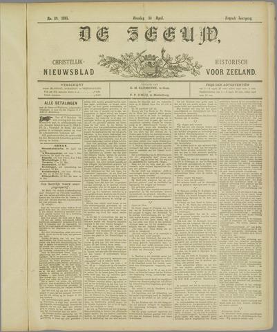 De Zeeuw. Christelijk-historisch nieuwsblad voor Zeeland 1895-04-30