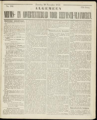 Ter Neuzensche Courant. Algemeen Nieuws- en Advertentieblad voor Zeeuwsch-Vlaanderen / Neuzensche Courant ... (idem) / (Algemeen) nieuws en advertentieblad voor Zeeuwsch-Vlaanderen 1872-11-30