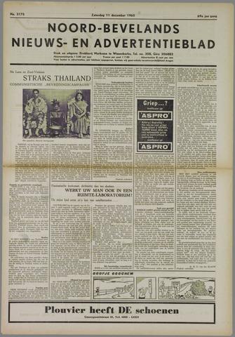 Noord-Bevelands Nieuws- en advertentieblad 1965-12-11