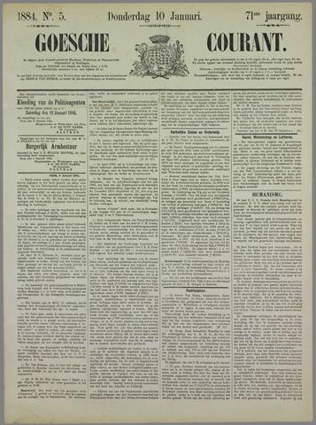 Goessche Courant 1884-01-10