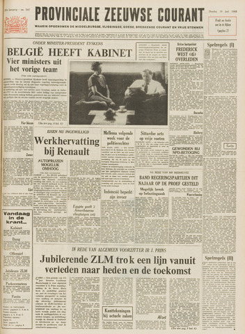Provinciale Zeeuwse Courant 1968-06-18