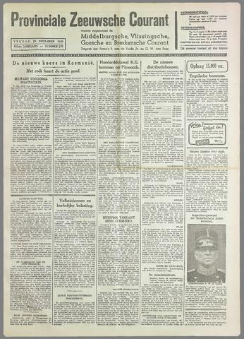 Provinciale Zeeuwse Courant 1940-11-29