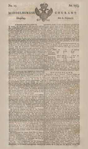 Middelburgsche Courant 1763-02-08