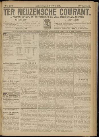 Ter Neuzensche Courant. Algemeen Nieuws- en Advertentieblad voor Zeeuwsch-Vlaanderen / Neuzensche Courant ... (idem) / (Algemeen) nieuws en advertentieblad voor Zeeuwsch-Vlaanderen 1916-10-12