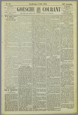 Goessche Courant 1919-07-03