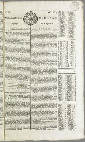 Zierikzeesche Courant 1814-09-06
