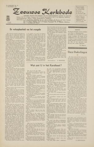 Zeeuwsche kerkbode, weekblad gewijd aan de belangen der gereformeerde kerken/ Zeeuwsch kerkblad 1964-12-11