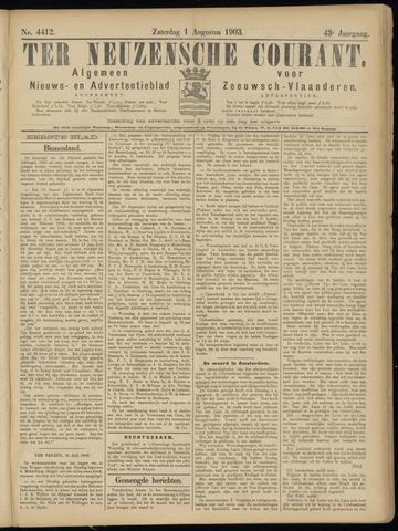 Ter Neuzensche Courant. Algemeen Nieuws- en Advertentieblad voor Zeeuwsch-Vlaanderen / Neuzensche Courant ... (idem) / (Algemeen) nieuws en advertentieblad voor Zeeuwsch-Vlaanderen 1903-08-01