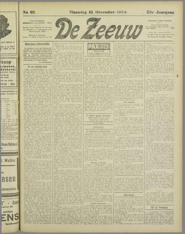 De Zeeuw. Christelijk-historisch nieuwsblad voor Zeeland 1924-12-15