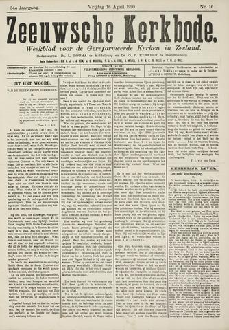 Zeeuwsche kerkbode, weekblad gewijd aan de belangen der gereformeerde kerken/ Zeeuwsch kerkblad 1920-04-16