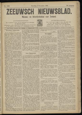 Ter Neuzensch Volksblad. Vrijzinnig nieuws- en advertentieblad voor Zeeuwsch- Vlaanderen / Zeeuwsch Nieuwsblad. Nieuws- en advertentieblad voor Zeeland 1918-11-02