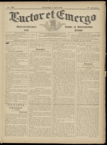 Luctor et Emergo. Antirevolutionair nieuws- en advertentieblad voor Zeeland / Zeeuwsch-Vlaanderen. Orgaan ter verspreiding van de christelijke beginselen in Zeeuwsch-Vlaanderen 1917-04-04