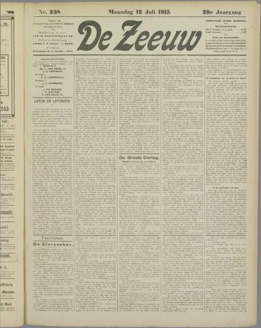 De Zeeuw. Christelijk-historisch nieuwsblad voor Zeeland 1915-07-12