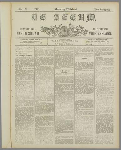 De Zeeuw. Christelijk-historisch nieuwsblad voor Zeeland 1910-03-28