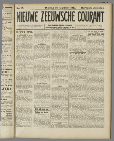 Nieuwe Zeeuwsche Courant 1917-08-21
