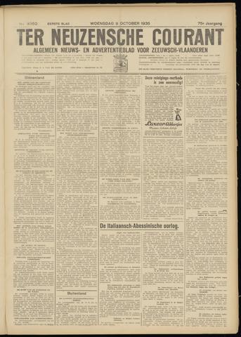 Ter Neuzensche Courant. Algemeen Nieuws- en Advertentieblad voor Zeeuwsch-Vlaanderen / Neuzensche Courant ... (idem) / (Algemeen) nieuws en advertentieblad voor Zeeuwsch-Vlaanderen 1935-10-09