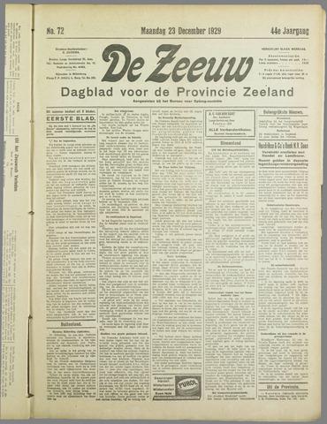 De Zeeuw. Christelijk-historisch nieuwsblad voor Zeeland 1929-12-23