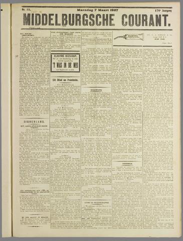 Middelburgsche Courant 1927-03-07