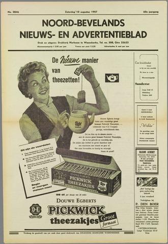 Noord-Bevelands Nieuws- en advertentieblad 1957-08-10