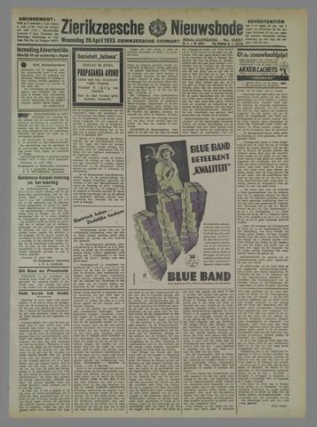 Zierikzeesche Nieuwsbode 1933-04-26
