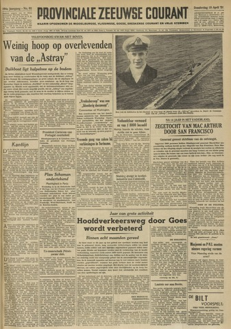 Provinciale Zeeuwse Courant 1951-04-19