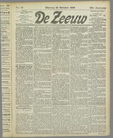 De Zeeuw. Christelijk-historisch nieuwsblad voor Zeeland 1918-10-15