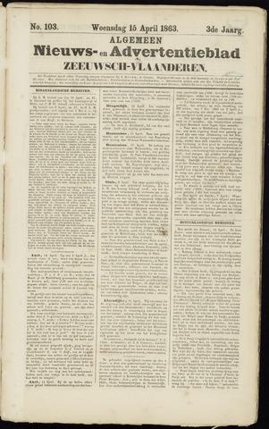 Ter Neuzensche Courant. Algemeen Nieuws- en Advertentieblad voor Zeeuwsch-Vlaanderen / Neuzensche Courant ... (idem) / (Algemeen) nieuws en advertentieblad voor Zeeuwsch-Vlaanderen 1863-04-15
