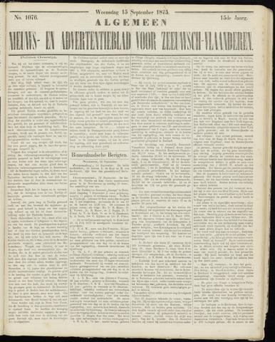 Ter Neuzensche Courant. Algemeen Nieuws- en Advertentieblad voor Zeeuwsch-Vlaanderen / Neuzensche Courant ... (idem) / (Algemeen) nieuws en advertentieblad voor Zeeuwsch-Vlaanderen 1875-09-15