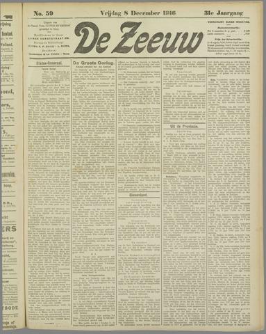 De Zeeuw. Christelijk-historisch nieuwsblad voor Zeeland 1916-12-08