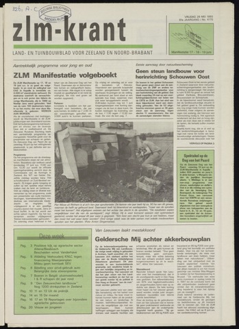 Zeeuwsch landbouwblad ... ZLM land- en tuinbouwblad 1993-05-28