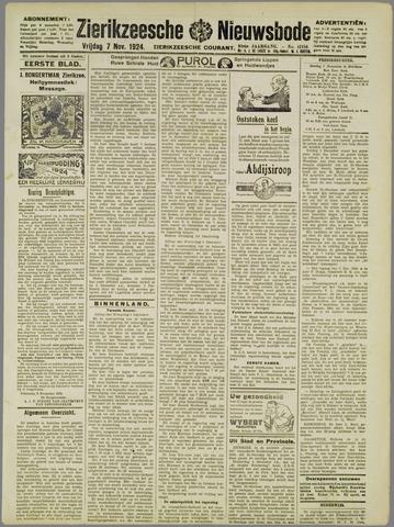 Zierikzeesche Nieuwsbode 1924-11-07