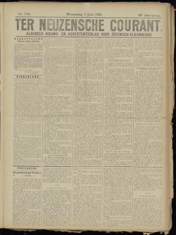 Ter Neuzensche Courant. Algemeen Nieuws- en Advertentieblad voor Zeeuwsch-Vlaanderen / Neuzensche Courant ... (idem) / (Algemeen) nieuws en advertentieblad voor Zeeuwsch-Vlaanderen 1923-06-06