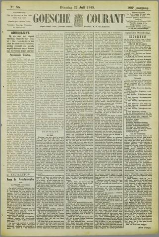 Goessche Courant 1919-07-22