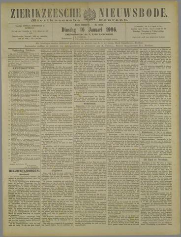 Zierikzeesche Nieuwsbode 1906-01-16