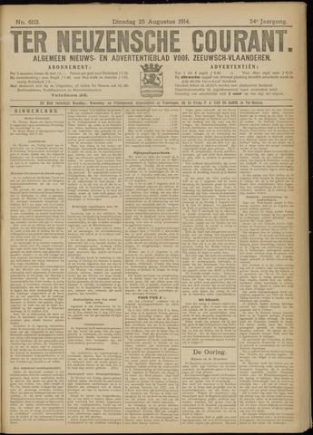 Ter Neuzensche Courant. Algemeen Nieuws- en Advertentieblad voor Zeeuwsch-Vlaanderen / Neuzensche Courant ... (idem) / (Algemeen) nieuws en advertentieblad voor Zeeuwsch-Vlaanderen 1914-08-25