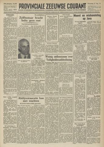 Provinciale Zeeuwse Courant 1947-08-27