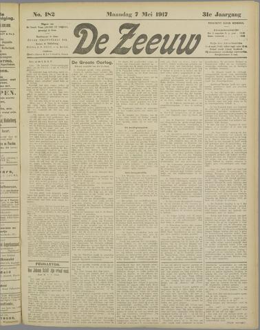 De Zeeuw. Christelijk-historisch nieuwsblad voor Zeeland 1917-05-07