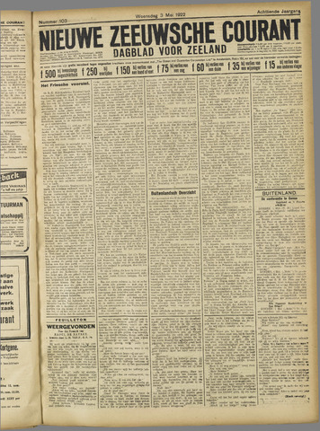Nieuwe Zeeuwsche Courant 1922-05-03