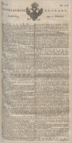 Middelburgsche Courant 1777-02-27