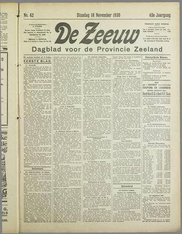 De Zeeuw. Christelijk-historisch nieuwsblad voor Zeeland 1930-11-18