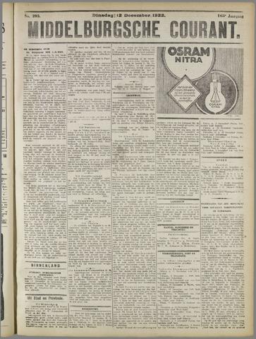 Middelburgsche Courant 1922-12-12