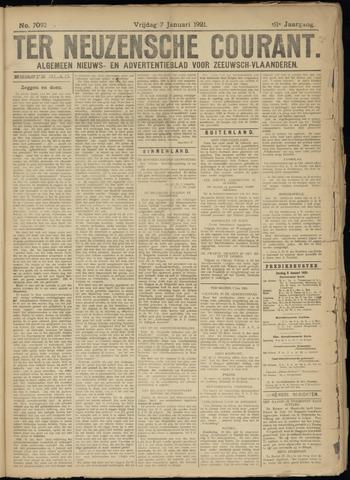 Ter Neuzensche Courant. Algemeen Nieuws- en Advertentieblad voor Zeeuwsch-Vlaanderen / Neuzensche Courant ... (idem) / (Algemeen) nieuws en advertentieblad voor Zeeuwsch-Vlaanderen 1921-01-07